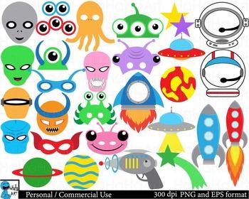 Alien Props Digital Clip Art Personal Commercial Use 150 images cod165