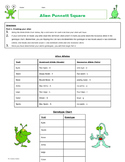 Alien Punnett Square Activity