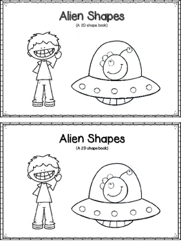 Alien Shapes - An Emergent Reader (With Memory Matching Cards)