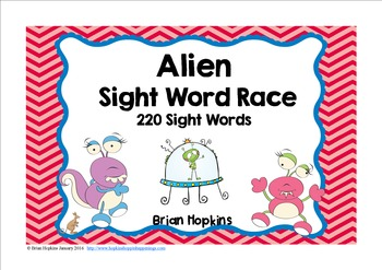 Alien Sight Word Race