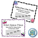 Alien Space Place-Detective Line Finder Bundle Identify Line/Space Notes