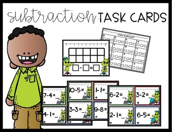 Alien Subtraction Task Cards
