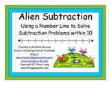 Alien Subtraction with Number Line