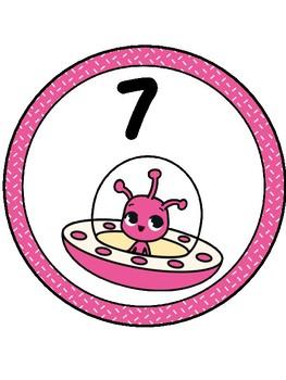 Alien Table Numbers 1-9