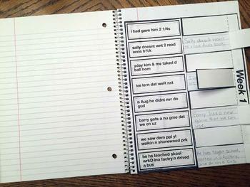 Text to English Grammar Interactive Notebook Sample