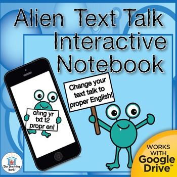 Text to English Grammar Interactive Notebook Sample Distance Learning