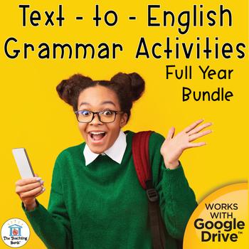 Text to English Grammar Interactive Notebook