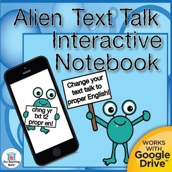 Text to English Grammar Interactive Notebook Distance Learning