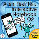 Text to English Grammar Interactive Notebook Quarter 2