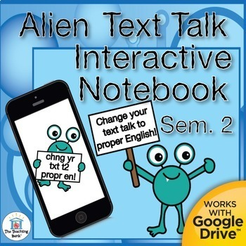 Text to English Grammar Interactive Notebook Semester 2 Bundle