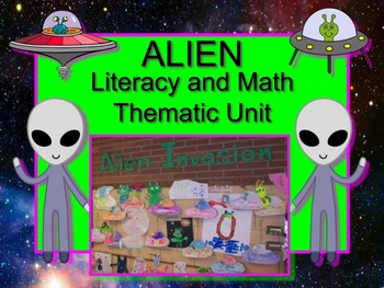 Alien Thematic Literacy and Math Unit PRINT & GO and SO MU