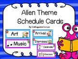 Alien Theme Schedule Cards -Editable