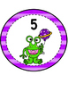 Alien Theme Table Numbers 1-8