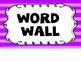 Alien Theme Word Wall #2