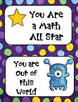 Addition Fact Practice: Alien Themed