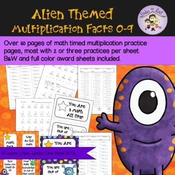 Multiplication Fact Practice: Alien Themed