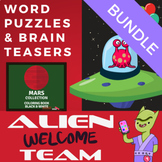 ELA Bell Ringer Word Puzzles - Level 1 - Color and Black a
