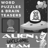 ELA Bell Ringers for Middle School - Level 1 Black & White Worksheets
