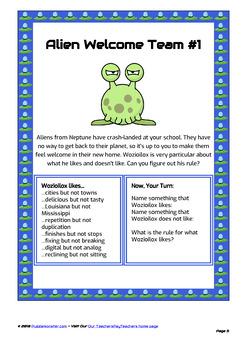 Alien Welcome Team (Neptune Set) - Bellringer Word Puzzles in Color
