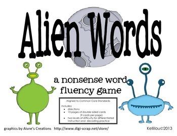 Alien Words - A Nonsense Word Fluency Game