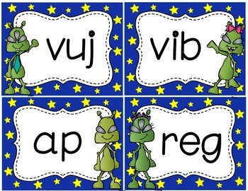 Alien Words are Out of This World! Nonsense Word Fluency Practice Cards