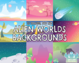 Alien Worlds Backgrounds (Lime and Kiwi Designs)