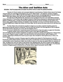Alien and Sedition Acts Handout