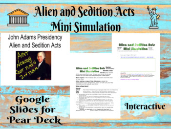 Alien and Sedition Acts Mini Simulation