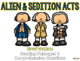 Alien and Sedition Acts Reading Passages & Questions