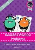 Alien genetics - punnett square worksheets