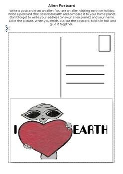 Alien postcard