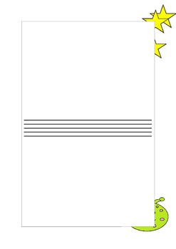 Alien themed writing sheets
