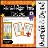Aliens & Algorithms: TEKS 2.4C: Word Problem Addition & Subtraction to 1,000