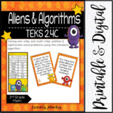Aliens & Algorithms: TEKS 2.4C: Word Problem Addition & Subtraction to 1,000