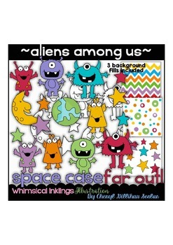 Aliens Among Us Clipart Collection
