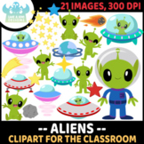 Aliens Clipart, Instant Download Vector Art, Commercial Use  Clip Art, Space
