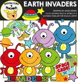 Aliens Earth Invaders Clipart