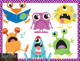 Aliens Emotions and Actions Clip Art