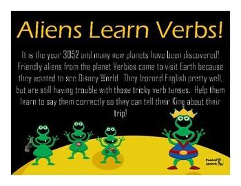 Aliens Learn Verbs! Correct Regular & Irregular Verb Tenses--No Print/No Prep