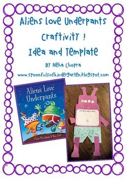 Aliens Love Underpants Craftivity!