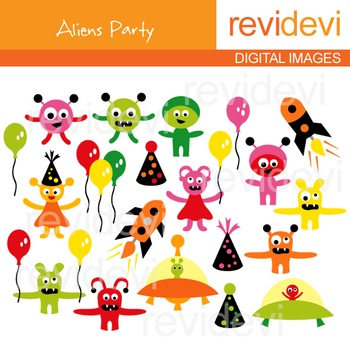 Aliens Party Clip art