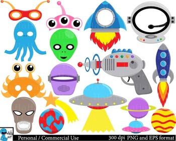 Aliens Props -  Clip Art Digital Files Personal Commercial Use cod202