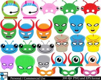 Aliens Props -set 2  -  Clip Art Digital Files Personal Commercial Use cod203