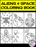 Aliens & Space Coloring Book