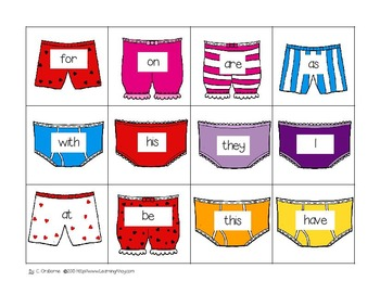 Sight Word Game ~ Aliens Steal Underpants