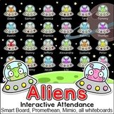 Aliens Theme Attendance for All Interactive Whiteboards an
