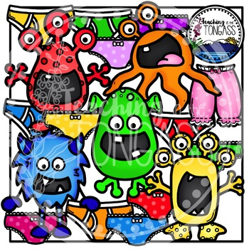 Alien Clipart and Underpants Clipart