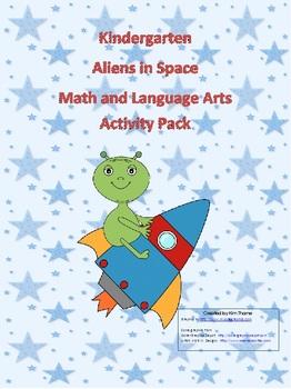 Aliens in Space (Kindergarten) Math and ELA Common Core aligned