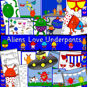 Aliens love Underpants story book study