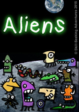 Aliens or Monsters Clip Art - 14 Pieces of Clipart for Primary or Secondary